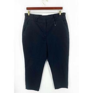 Halogen Cropped Dress Pants 16 Black Ruffle NWOT